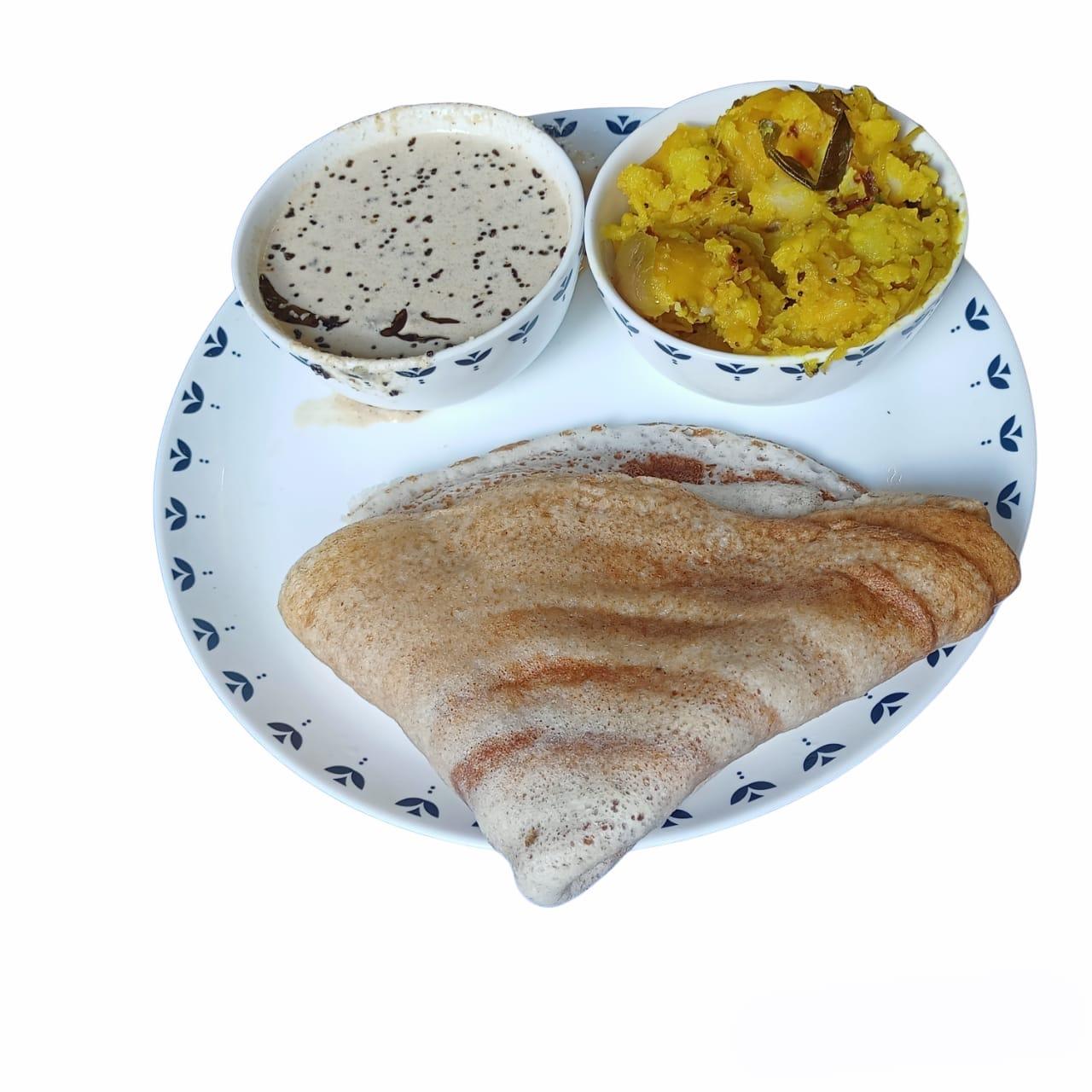 Dosa with Chutney & Potato Bhaji